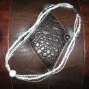 301 Verižica bela perle+Fimo*