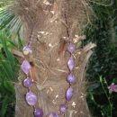 325 Ogrlica vijola akrilne perle+perlice*