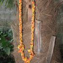 25 Kvačkana ogrlica z vozli oranžno-rumeno-rjava perlice (M)