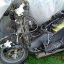 ostanki skuterja od prometne nesreče