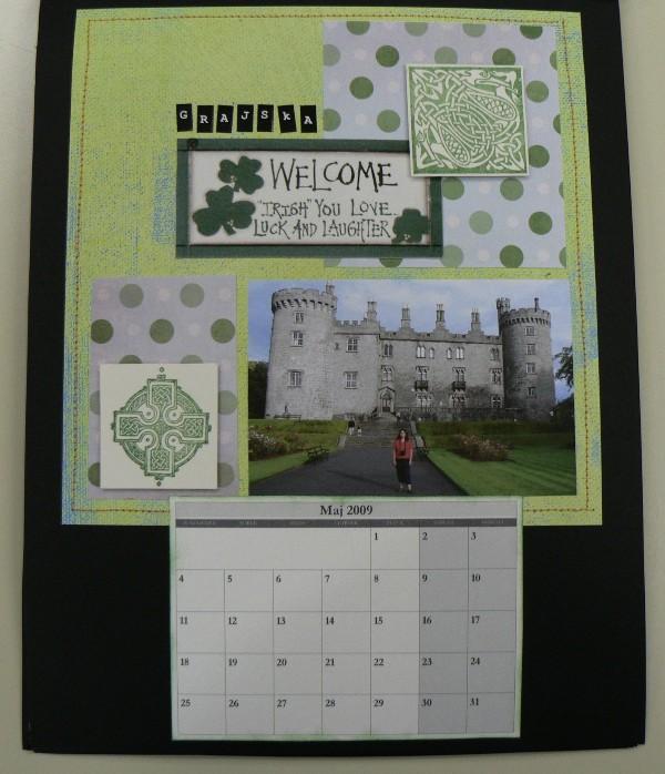 Scrapbook - koladar Moja pravljična Irska (ja - foto povečava