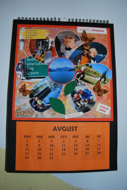 Scrapbook koledar - naša čudovita švica - foto