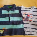 2x majica Benetton in Okay, dolg rokav, velikost 62, skupaj 8 eur