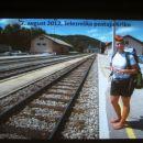 Pia Peršič : začetek poti-- Krško, železniška postaja.