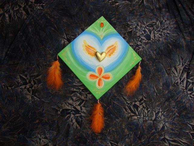 Angelska krilca s srcem 30 x 30.