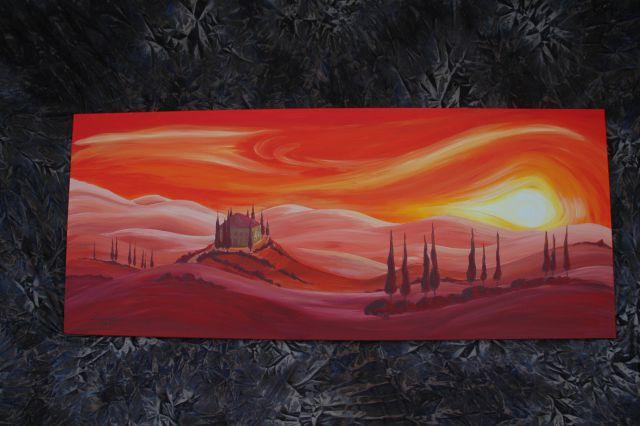 Toscana - sončni zaton 58 x 25 cm.