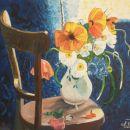 rože na stolu