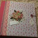 scrapbook album Winter rose