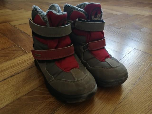 Zimski škornji Ciciban št. 29, sivi in rdeči