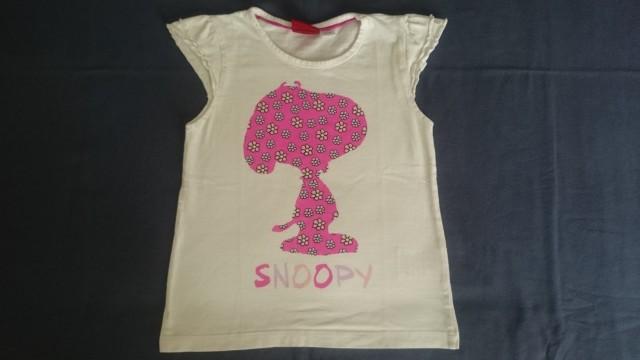 Majica za deklico, kratek rokav, Peanuts, Snoopy, št. 98-104št. 98-104