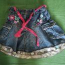Kavbojsko jeans krilo 116