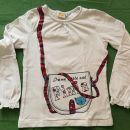 Majica za deklico, dolg rokav, 128, Kik