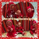 božična obleka št74-80 in božični pajac pajac kostum št, 86