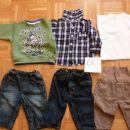 kavbojke 2 eur/kos, žametne 3 eur/kos, pulover in srajčka 2eur/kos, pliasta majica 1 eur