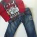 Podlozen jeans in disney majica 92