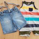 Gap romper - pajac in H&M jeans hlače z naramnicami