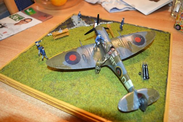 Spitfire - diorama - foto