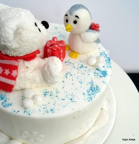 Figurica za torto pingvinček