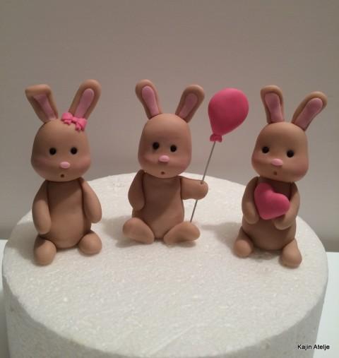 Figurice za torto zajčki