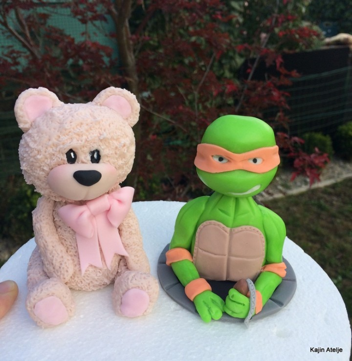 Figurici za torto medvedka in ninja želva