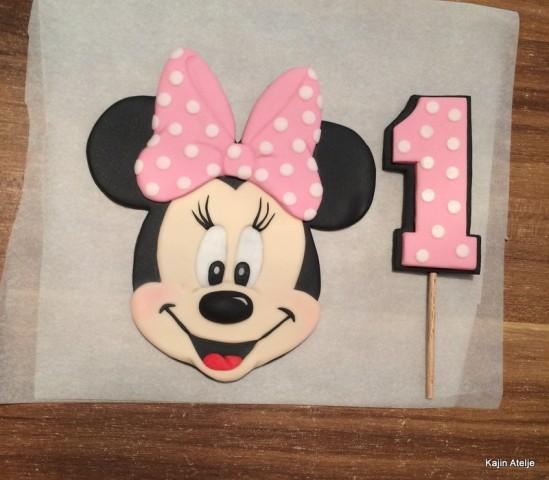 2D figurica za torto glava Minnie miška