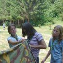 postavlali smo tudi šotorko