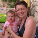 Jaz in mami na plaži