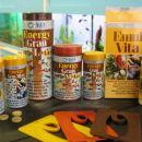 Asortma granulirane hrane Energy Gran, Vitamini Emul Vita, K1in plavajoci dozatorji hrane.