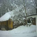 Stara hiša trbi težkega snega