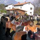 Zbrali so se konjeniki iz Idrskega in okolice Kobarida ( Livek, Sužid, Trnovo, Kobarid...)