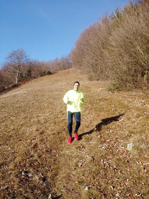 Spust po sončnem, toplem travniku iz Tolstega vrha ...