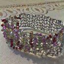 kvačkana zapestnica; žica in perle