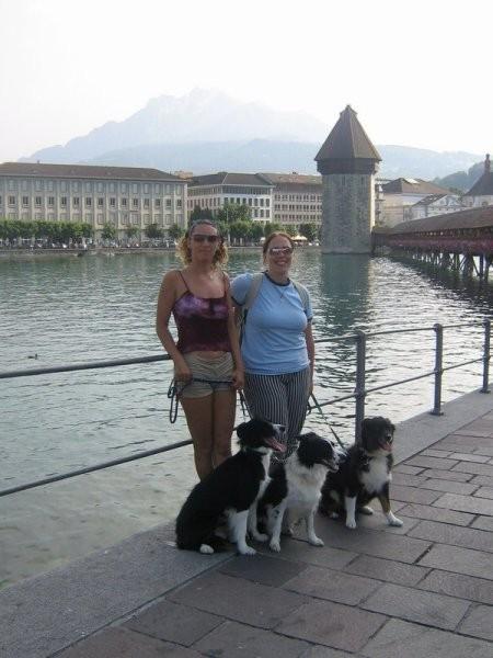 Jaz in Mihela v Luzernu v Švici