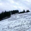 Snega ni skoraj nič, ampak še vseeno več kot v dolini ;)