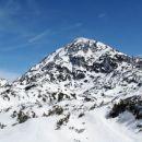 Delno zasnežen Veliki vrh
