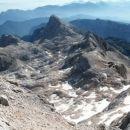 Pogled na škrapljast teren Kotla, Rjavino in Kredarico