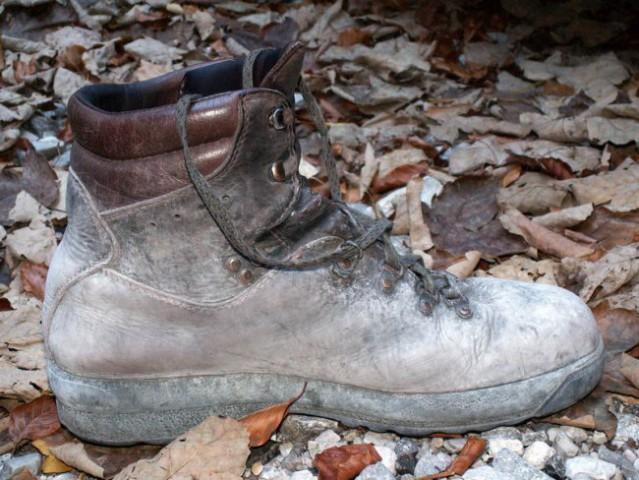 Meni je prav, Alpina! Čevlji so se pobelili med divjim sestopom po melišču :)