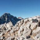 Po slabih treh urah miganja pridem na 2433 m visok Križ. Škoda, da slika ne prikaže