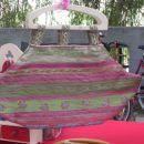 Unikatna taškica Matin- ročaji iz lesa in tkanina