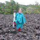Geologinja v delovni vnemi. In dežju, seveda.