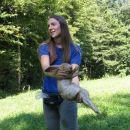 Vanja se je dobro ujela z zajcem:)