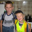 Jernej in Jure drugi šolski dan
