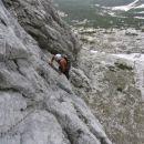 Z Rokom sva plezala smer Bulfoni-D'Eredita. Tole so vstopni raztežaji