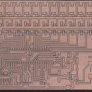 Tiskano vezje izdelano na CNC stroju. Velikost 10X16cm.