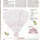 vzorček za prtiček in vzorček metuljčka
