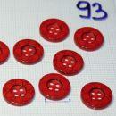 plastični gumbi z gravirano rožo