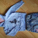 puloverček in jeans krilo 98