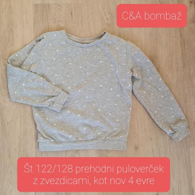 Prehodni pulover bombaž, zvezdice